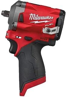 Milwaukee M12 FIW38-0 4933464612 Impact Wrench, 12V Li-Ion, 3/8, Square – M12FIW38-0, 12 V, Black/Red