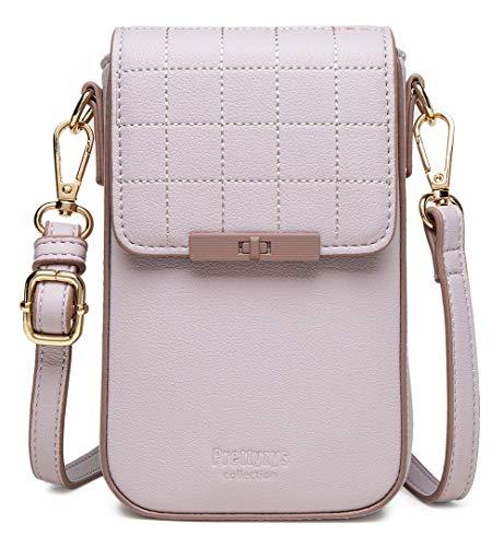 VEVESMUNDO Monedero para mujer de piel sintética de poliuretano, pequeño bolso de hombro, cartera, bolsillo para teléfono móvil, bolso de mano con tarjetero