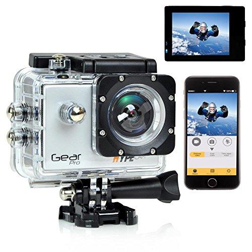 Gear Pro Sports Action 4K Hype Cam - Ultra HD Wi-Fi Action Camera, Silver (GDV485SL)