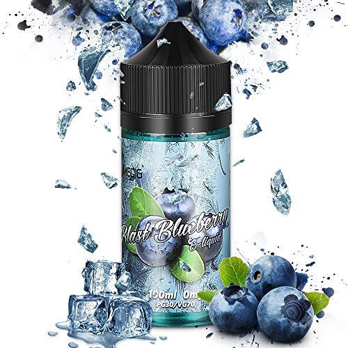 IMECIG® Blaubeere E Liquid für E Zigaretten/E Shisha, Liquids 70VG/30PG Vape Eliquids, 100ML, ohne Nikotin