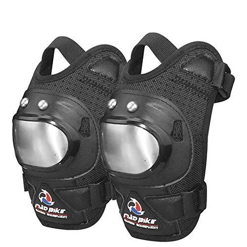 XJLJ Rodilleras Almohadillas Transpirables Adulto Ajustable de Fibra de aramida motocrós MTB Espinilleras for Montar en Bici Patinaje