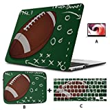 Etui Macbook 15 Pouces Colorfulfashion Cartoon American Rugby Macbook Pro 2017 Coque Rigide Mac Air 11'/ 13' Pro 13'/ 15' / 16'avec Housse pour Ordinateur Portable pour Macbook Version 2008-2020