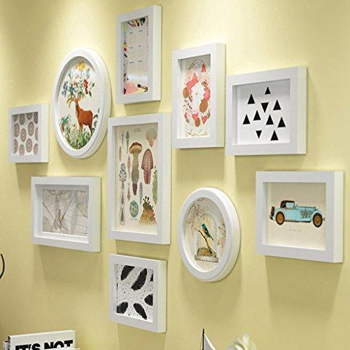 NYDZDM Combinaison de cadre de photo de mur de photo, cadre de photo de suspension de salon