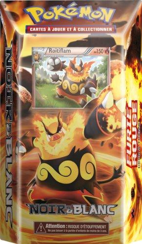 Asmodée - POBW01 - Jeu de Cartes à Jouer et à Collectionner - Pokémon - Starter Noir & Blanc 1 - Furie Rouge - Carte Rare Roitiflam