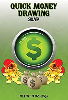 (2PACK) Indio Products SPIRITUAL BAR SOAP- QUICK MONEY DRAW 3oz-For the purpose of Aromatherapy Ritual Baths Spells Magic Hoodoo Metaphysical Bath Wicca Paganism Santeria Ritual Gift