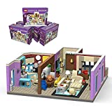 TENHORSES Monica's Apartment Building Blocks, Ideas from Central Coffee Shop, Creative House Building Bricks Kit Toy for Lovely Girls(935 Pieces)