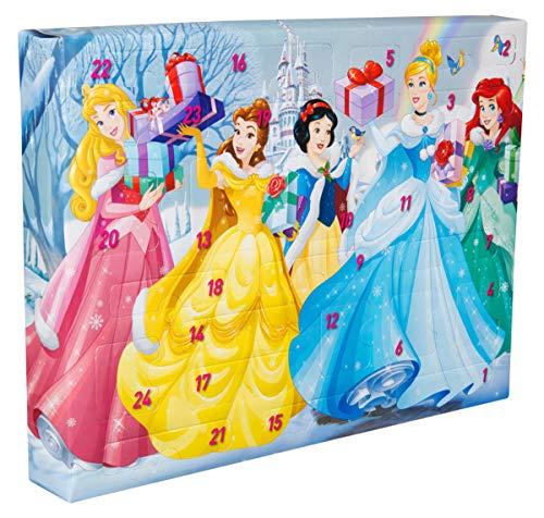 Sambro DSP14-6797 Adventskalender Disney Princess mit Schreibwaren, Stempeln und Stickern, für Kinder ab 3 Jahre, bunt