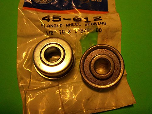 NEW 2 PACK FLANGED BALL BEARINGS FITS BLOWERS WINDMILLS CARTS 1/2'X1 3/8' 45-012