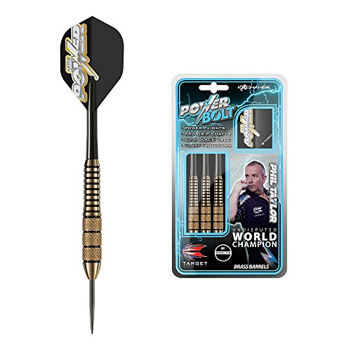 Target Darts Phil Taylor Power Bolt Messing Steel Tip Dartpfeile (22gr), 22g