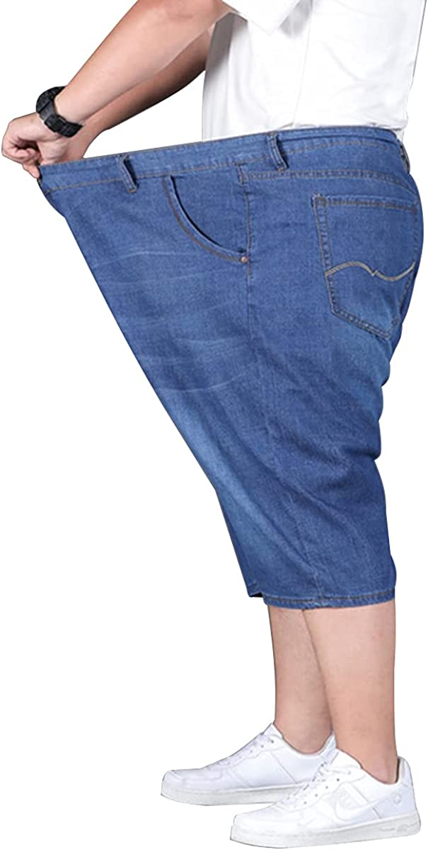 Jeans Size Men, Five - Minute Pants, Casual Business, Wide,Fits 200 pounds to 330 pounds