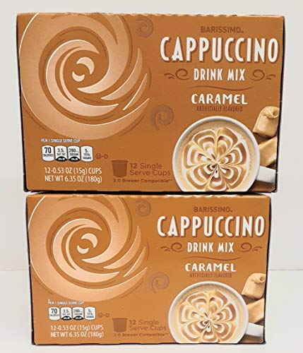Barissimo Caramel Cappuccino Coffee Drink Mix K-Cup...