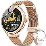 NAIXUES Smartwatch Mujer, Reloj Inteligente Impermeable IP68, Pulsera de Actividad Inteligente con...