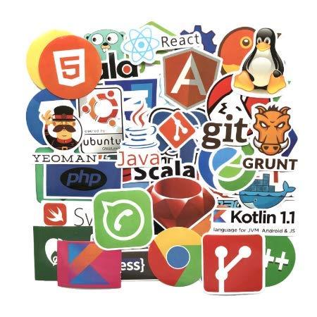 cyk Programmierung Aufkleber Java JS PHP Docker Bitcoin HTML Wolke Sprache APP Logo lustige Aufkleber für 50pcs