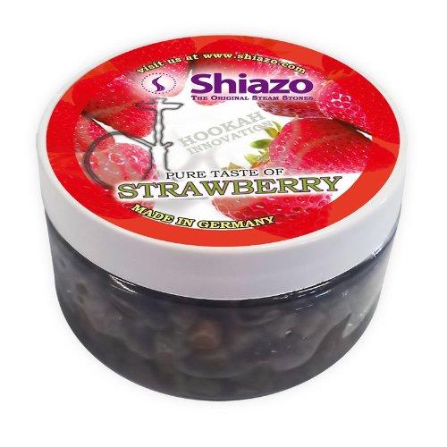 Shiazo - Piedras granuladas para cachimba (sustituye a tabaco, sin nicotina, 100 g, aroma a fresa)
