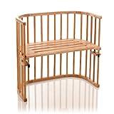 babybay Original Beistellbett aus unbehandeltem Holz für Tag und Nacht I Kinderbett Höhe verstellbar & umweltfreundlich I mitwachsendes Babybett 7 in 1 (Kernbuche geölt)