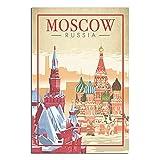 ZHBIN Moskau Vintage Reise Poster Staat Russland Saint