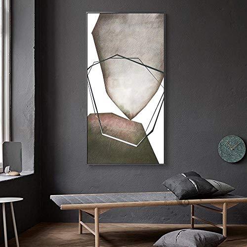 Dekorative malerei speichern Abstrakte gelbe Schwarze Blöcke Leinwand-Malerei Mode-Plakat-Druck Seltsame Sache Wandkunst für Wohnzimmer Bild Home Decor kein Rahmen 70x140cm