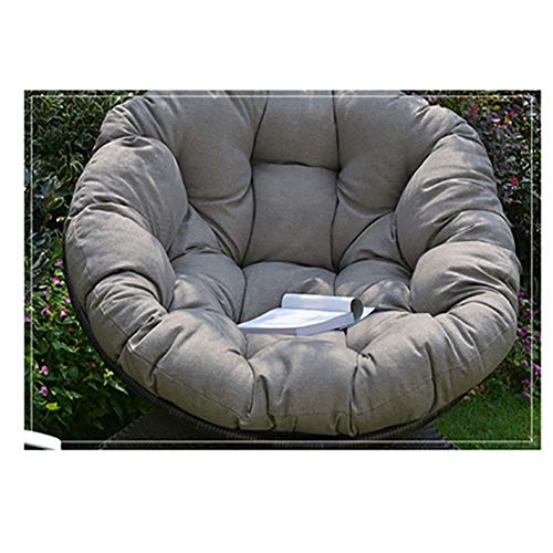 MSM Furniture Overstuffed Papasan Chair Cushion,tufted Swing Rattan Chair Cushion,round Cushion Thick Comfortable Oversized Papasan Pad Gray 120x120cm(47x47inch)