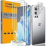 NEWZEROL 3 Stück Displayschutz + 3 Stück Kameraschutz Kompatibel für Oneplus 9 Pro [ Fingerabdruck-ID] Blasenfreie Klar HD Weich TPU Displayschutzfolie und Kamera panzerglas - Transparent