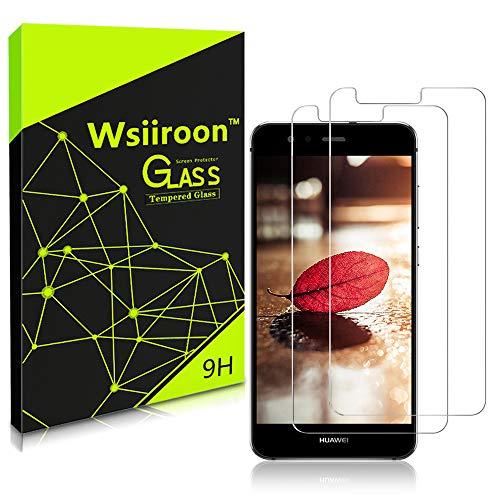wsiiroon Panzerglas für Huawei P10 Lite, 2 Stück: Schutzfolie für Huawei P10 Lite Displayschutzfolie, Anti-Kratz, 9H Härte, 2.5D Kanten, 99% Transparente Tempered Glass Panzerglasfolie