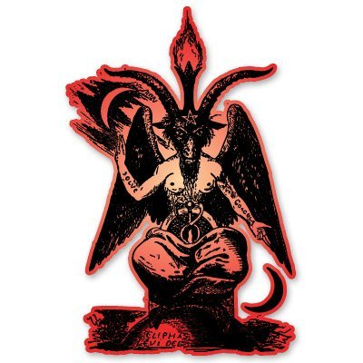 VINMEA Baphomet Lucifer Devil Vinyl Sticker - Car Window Bumper Laptop - 6-Inch