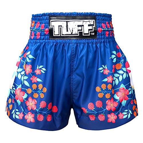 Tuff Boxing Sport Muay Thai Shorts Trunks Kick Martial Arts Training Gym Clothing, Tuf-ms632-nvb, Large