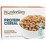 WonderSlim Diet Protein Breakfast Cereal - Chocolate Peanut Butter (7 Servings/Box) – Healthy Low Fat, Low Calorie, Cholesterol Free Cereal