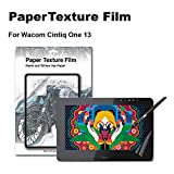 Green Onions Supply Paper Texture Screen Protector for Wacom One 13 Paper Screen Sketch/Anti Glare/Matte/Made in Japan/Scratch Resistant/PET [1 Pack]