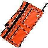 Grand sac de voyage Orange - Avec 3 roulettes - Bagage XXL - Sac de sport - 85x43x44 cm
