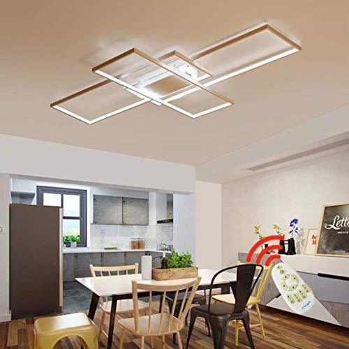 Moderne minimalistische LED-Deckenleuchte geometrische quadratische Deckenlampe Modedesign Deckenleuchten Persönlichkeit DeckeLichter Schlafzimmer Studie Wohnzimmer Deckenleuchte,Weiß,140cm