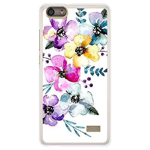 BJJ SHOP Custodia Nera per [ Huawei G Play Mini ], Cover in Silicone Flessibile TPU, Design: Fiori, Papaveri