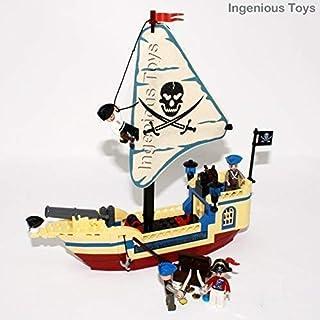Ingenious Toys Piratas Barco con 4 Minifiguras Tesoro Caja
