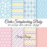 Carta Scrapbooking Baby 8,5 x 8,5 inch - 20,5 x 20,5 cm - 20 fogli