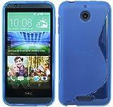 ENERGMiX Silikon Hülle kompatibel mit HTC Desire 510 Tasche Hülle Gummi Schutzhülle Zubehör in Blau