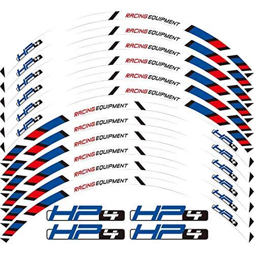 para BMW HP4 HP4 HR6 17 '' 12 x Edición de Borde de Grueso Etiqueta de Ruedas de Rotura de Rotura Exterior (Color : Multi)