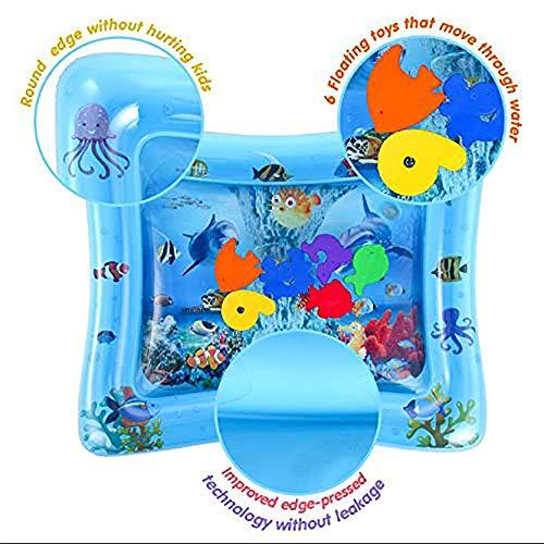 FINIVE Zeit Baby Wassermatte Kleinkindspielzeug Aufblasbare Spielmatte Baby Aufblasbare Bauchwasser Gepolsterte Matte Aquarium Aktivität Zentrum Kissen Spielzeug Wal##