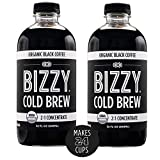 Bizzy Organic Cold Brew Coffee | Concentrate | Perfect for Protein Shakes & Smoothies | Makes 24...