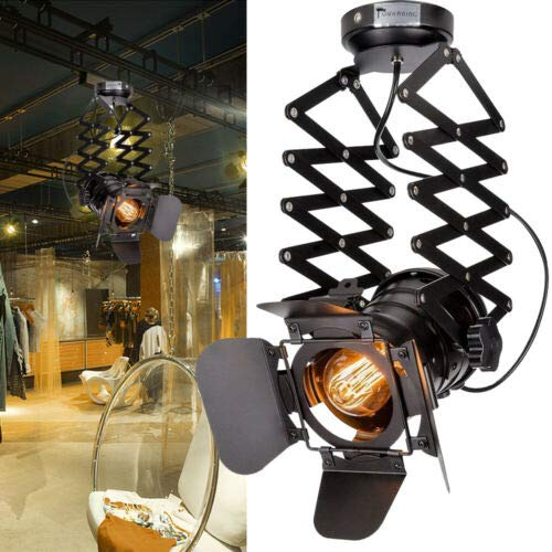 Vintage plafondspot wandlamp industriële spot wand- / plafondlamp verstelbaar perfect voor hal, woonkamer, badkamer