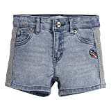 Levi's Girls' Little Denim Shorty Shorts, Wonderwall, 6X