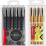 Tintenroller - STABILO bl@ck - medium - 6er Pack - schwarz, blau, rot, grün, lila, türkis +...
