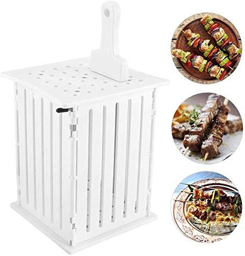PANXIA 36 Löcher Spieße Allesschneider BBQ Grill Schaschlik Maker Box Kit Werkzeug Tragbare Grill Gebratenes Fleisch Maker Helper Kit