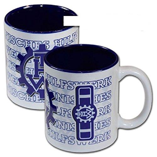 Schwemmlein THW Kaffeetasse Tasse mit Dienststellungskennzeichen - Jugendbetreuer - 95x110mm