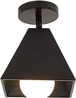 Modern Black Flush Mount Light Fixture 1-Light Metal Ceiling Light,Adjustable Angle Pendant Light for Hallway Living Room Farmhouse Stairway Porch Bedroom Kitchen Entryway,Black.