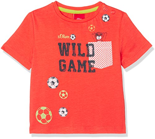 s.Oliver s.Oliver Baby-Jungen 65.803.32.6382 T-Shirt, Rot (Red 2590), 74