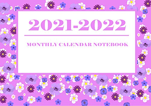 2021-2022 Monthly Calendar Notebook: Two Year Months Only Calendar Planner | 24 Months from Jan 2021 to Dec 2022 Paperback – Notebook (rooselili 4121993) (English Edition)