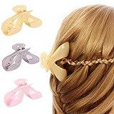 Haarklammern, 3 Stück, Kunststoff, groß, rutschfest, für Damen und Mädchen