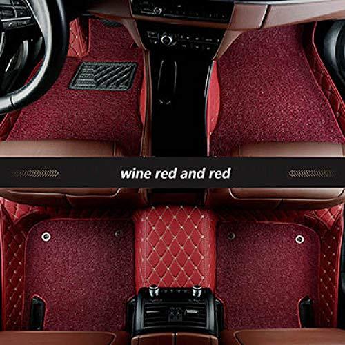 YJLOVK para un para Alfombrillas de Coche Personalizadas para Acura Todos los Modelos CDX TLX-L MDX RL TL RDX ZDX ILX Car Styling Accesorios para automóviles, Rojo Vino y Rojo