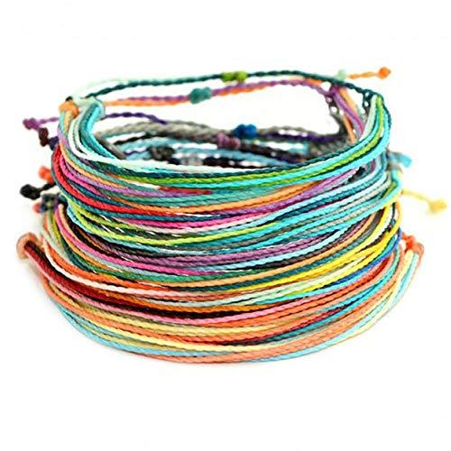DMUEZW Friendship Pack (10 Armbanden) katoen koord armbanden voor vrouwen lot armbanden sieraden