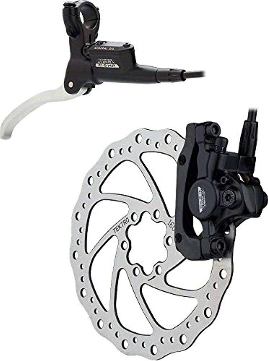 Tektro Auriga Comp Rear Disc Brake, 180 mm Diameter Black Hydraulic