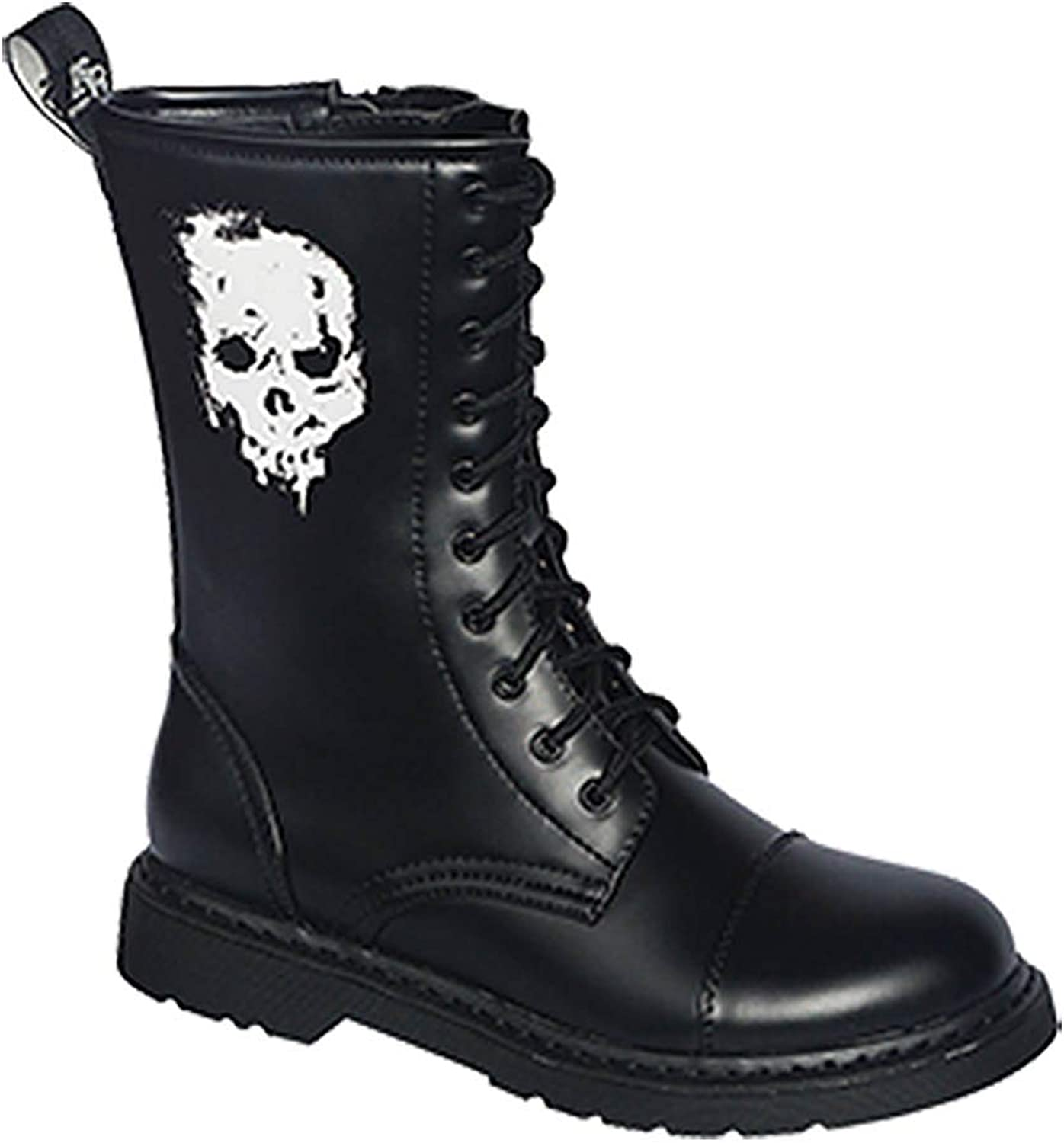 Knightsbridge 10-Hole Boots Dark Creations with Zipper UK Gothic Boots Various Motif 37-46